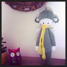 DIRK the dragon made by Aurélie M. / crochet pattern by lalylala