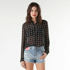 c1ee8b31 The Effie, made of 100% polyester printed chiffon, is a long-sleeve. Vans