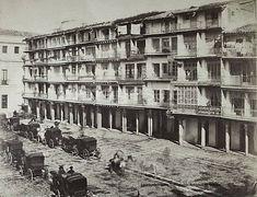 Plaza de San Francisco y Ayuntamiento. 1859 - Louis León Masson