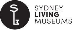 Sydney Living Museums logo. The initials S, L and M form a key symbol.