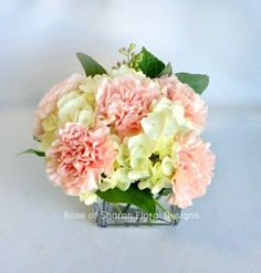 centerpieces with hydrangeas and carnations - Google Search