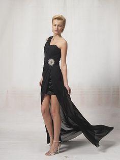 $209.99  One Shoulder High Low #Cocktail #Dress