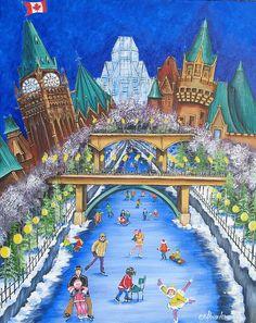 Pride of Ottawa No. 1 by Jill Alexander Ottawa, Fine Art America, Vibrant Colors, Pride, Studio, Winter, Artwork, Artist, Christmas