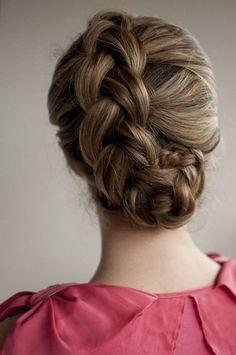 Braided upstyle - Hair Romance on Latest Hairstyles Braided Upstyle on hair romance Wedding Hairstyles For Long Hair, Pretty Hairstyles, Girl Hairstyles, Braided Hairstyles, Braided Updo, Updo Hairstyle, Style Hairstyle, Summer Hairstyles, Festival Hairstyles