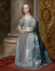 1637 Princess Mary, Daughter of Charles I by Anthony van Dyck
