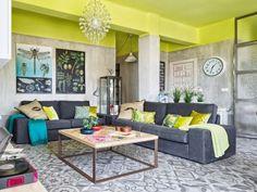 อพาร์ทเม้นท์เท่ๆ มาในลุคโมเดิร์นอินดัสเทรียล เต็มไปด้วยเสน่ห์ของกระเบื้องสีเทาที่รวมกันไว้อย่างลงตัว