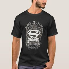 Superman Stylized | Honor Truth on White Logo T-Shirt - tap to personalize and get yours #TShirt  #superman #black #afflink Superman Gifts, Superman T Shirt, Halloween Outlet, Spooky Halloween, Halloween Makeup, Justice Logo, Horse Shirt, White T, Tshirts Online