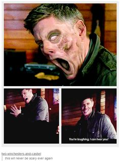 Supernatural without CGI - I loved that part of the gag reel. It was hilarious