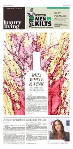 Fun use of shape and texture to represent wine