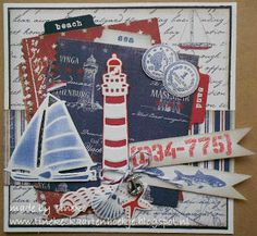 Good use of Marina Sailboat die Decoupage, Nautical Cards, Beach Cards, Pop Up Box Cards, Seaside Decor, Sea Theme, Cricut Cards, Fathers Day Cards, Marianne Design