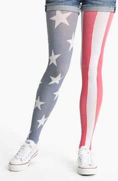 Pretty Polly 'American Flag' Tights available at #Nordstrom