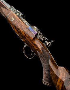 A Brace Of Superb Hartmann & Weiss Bolt Action Rifles Rigby Rifle, Africa Hunting, Neck Bones, Bolt Action Rifle, Custom Guns, Leather Holster, Hunting Rifles, Winchester, Firearms