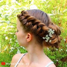 Hair Transformation😍😍😍😍 hair hairs hairstyles How to braid your own hair Easy casual hairstyle f Casual Hairstyles For Long Hair, Braids For Short Hair, Braided Hairstyles, Braid Hair, Hairstyles For Girls Easy, Short Hairstyles, Long Hair Dos, Updo Hairstyle, Wedding Hairstyles
