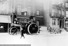 Brighton, Steam Driven Engine In London Road from Francis Frith Brighton Sussex, Brighton And Hove, Steam Tractor, Agriculture Tractor, Retro Pictures, History Of Photography, Steam Engine, Local History, Steam Locomotive