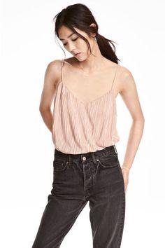 Top de tirantes plisado - Rosa empolvado - | H&M ES