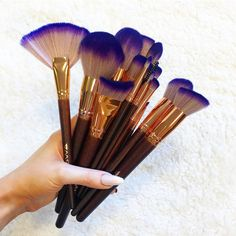 Special offer - 20% off makeup brushes w/ code BRUSHGOALS. (ends 20th Aug 2017) The brushes you NEED in your makeup kit, designed specifically for Princesses, Shop the #GWA Fairytale Collection www.girlswithattitude.co.uk Makeup Kit, Makeup Tools, Makeup Brushes, Beauty Bible, Makeup Supplies, Caking It Up, Purple Ombre, Makeup Yourself, Princesses
