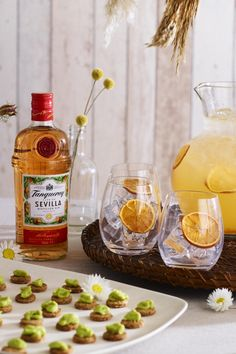 For a vibrant alternative arrival drink, Tanqueray Gin Marmalade Punch works best served in large jugs for guests to help themselves to, and paired with avocado iced gem canapes. Follow link for recipe and method. #Ad #BohoWedding #BackGardenWedding #SummerSharing #BatchCocktails #WeddingIdeas #WeddingTrends2019 #GinCocktail #WeddingInspiration #CocktailsAndCanapes #WeddingCocktails #BeforeDinnerDrink #BeforeDinnerCocktail #PreDinnerDrink #MarmaladeCocktail #AvocadoCanape… Cocktails And Canapes, Cocktail Recipes, Iced Gems, Back Garden Wedding, Best Diet Plan, My Cookbook, Proper Diet, Marmalade, Best Diets
