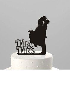 Figurine Mr & Mrs Acrylique Mariage Décoration pour gâteaux/Douche nuptiale Décoration pour gâteaux (119063248)