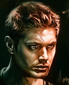 Dean Winchester. Beautiful Portrait! Need to paint this for sure