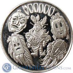 #Voodoo Mythological Legends 1 oz Silver Art Round .999 Pure http://www.gainesvillecoins.com/