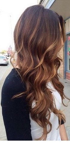 This is gorgeous! Brown and caramel hair painting