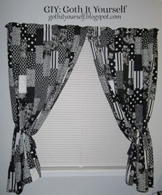 Black and White Patchwork Curtains