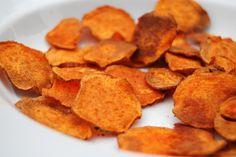 Low sodium oven fried sweet potato crisps. Now you're talking!
