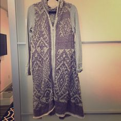 Free People S Extra Long Purple Knit Sweater Free People S Extra Long Purple Knit Sweater. Never been worn. Free People Sweaters Shrugs & Ponchos