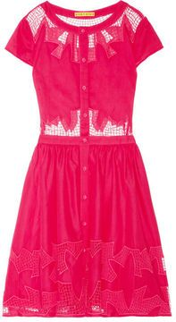 shopstyle.com: Alice + Olivia Papina embroidered cutout cotton dress. I like this but in a different color.