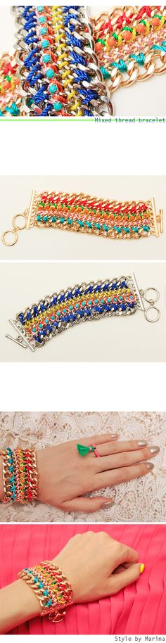 Mixed thread bracelet - accessories Style by Marina