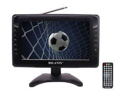 Milanix Portable Widescreen LCD TV with Detachable Antennas, USB/SD Card Slot, Built in Digital Tuner, and AV Inputs - The Latest Technology Site Tv Stand Usa, Tv Entertainment Centers, Power Backup, Portable Tv, Lcd Television, Tv Tuner, Tv Reviews, Digital Tv, Built In Speakers
