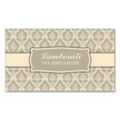 Elegant Professional Damask Interior Decorator Business Cards