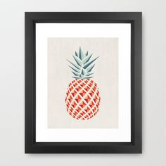 Pineapple Framed Art Print - For the Queenslander in my life