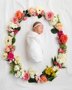 Floral Wreath Baby Photo Natalie Hurst Interiors