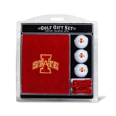 Team Golf Iowa State Cyclones Embroidered Towel Gift Set, Multicolor