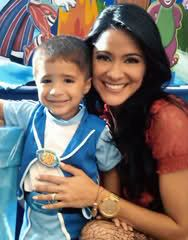 Photo of Norkys Batista & her Son  Sebastian Luttinger Batista
