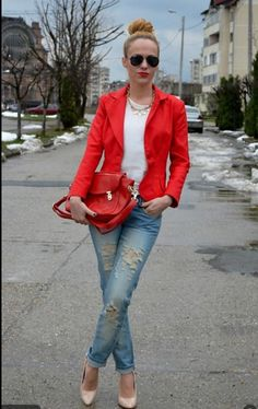 Bright red!