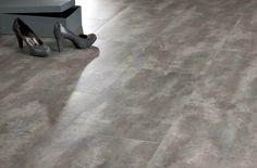 Concrete stone effect luxury vinyl flooring moduleo