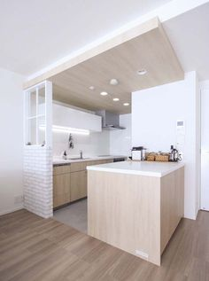 ブリック、タイル、壁、キッチン、袖壁、DIY、マンション、リノベーション、プラスエム・アーキテクツ