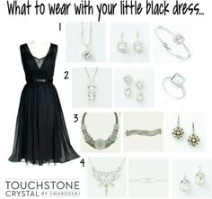 Little Black Dress. Touchstone Crystal  by Swarovski