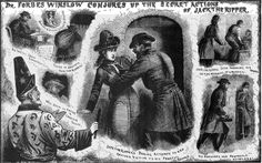 """The Illustrated Police News """"Dr. Forbes Winslow conjures up the secret actions of Jack The Ripper"""""""