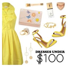 """Dresses Under $100"" by dressedbyrose ❤ liked on Polyvore featuring Steve Madden, Mantaray, Cloverpost, Lele Sadoughi, Sydney Evan, Yves Saint Laurent, Too Faced Cosmetics, under100 and polyvoreeditorial"