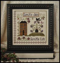 finished little house needleworks sampler months - Google Search