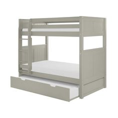 When your family is growing and your space is not, Camaflexi's ultra-durable bunk bed collection offers the perfect solution. Constructed of solid wood, the upper bunk features front and rear safety guard rails. Both beds include slat roll foundations reinforced with their unique, extra sturdy, center rail support system. The attached, extra wide step ladder and safety guard rails are interchangeable so, you can position the ladder where you need it. All Camaflexi bunk beds are built to m...