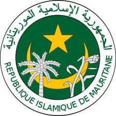 Brasão de armas da Mauritânia. Coat of arms of Mauritania.