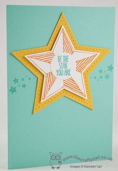 Be The Star You Are Card Be the Star, Star Framelits, Eclectic Paper Piercing Pack, Joanne James Stampin' Up! UK Independent Demonstrator, blog.thecraftyowl.co.uk