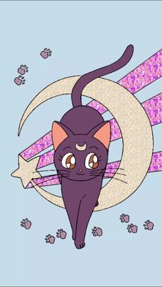 Image result for luna sailor moon cat