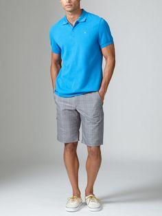 J Lindeberg Golf Trent Vintage Plaid Shorts