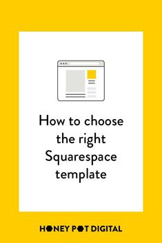 The first step in building your Squarespace website is to choose a template. To slice through that overwhelm and help you make a quick, yet educated decision, we've laid out how to choose your template, complete with a quiz to help you make that final dec Marketing Articles, Content Marketing, Choose The Right, First Step, Web Design, Social Media, Messages, Templates, Honey
