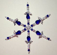 Hey, I found this really awesome Etsy listing at https://www.etsy.com/listing/212063696/beaded-snowflake-ornament-christmas